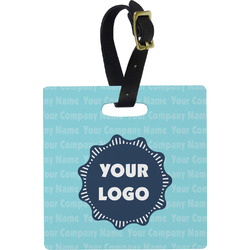 Logo & Company Name Square Luggage Tag (Personalized)
