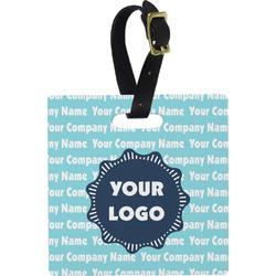 Logo & Company Name Square Luggage Tag (Personalized)