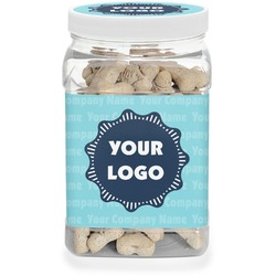 Logo & Company Name Pet Treat Jar (Personalized)