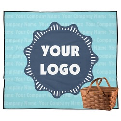 Logo & Company Name Outdoor Picnic Blanket (Personalized)