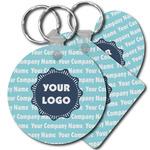 Logo & Company Name Plastic Keychains