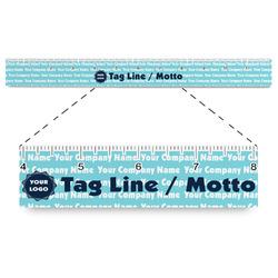 "Logo & Company Name Plastic Ruler - 12"""