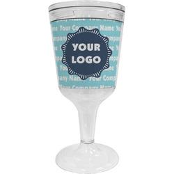 Logo & Company Name Wine Tumbler - 11 oz Plastic