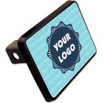 "Logo & Company Name Rectangular Trailer Hitch Cover - 2"" (Personalized)"