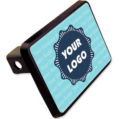 """Logo & Company Name Rectangular Trailer Hitch Cover - 2"""" (Personalized)"""