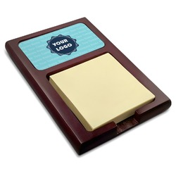 Logo & Company Name Red Mahogany Sticky Note Holder (Personalized)