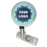 Logo & Company Name Retractable Badge Reel (Personalized)