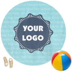 Logo & Company Name Round Beach Towel (Personalized)