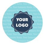 Logo & Company Name Round Decal (Personalized)