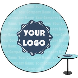 Logo & Company Name Round Table (Personalized)