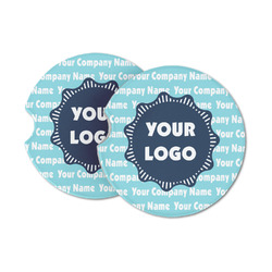 Logo & Company Name Sandstone Car Coasters (Personalized)