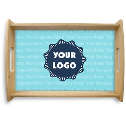 Logo & Company Name Natural Wooden Tray (Personalized)