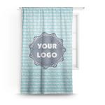 Logo & Company Name Sheer Curtains