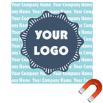 Logo & Company Name Square Car Magnet (Personalized)