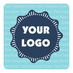 Logo & Company Name Square Decal (Personalized)