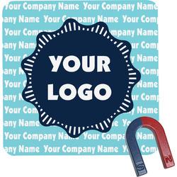 Logo & Company Name Square Fridge Magnet (Personalized)