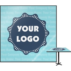 Logo & Company Name Square Table Top (Personalized)