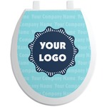 Logo & Company Name Toilet Seat Decal (Personalized)
