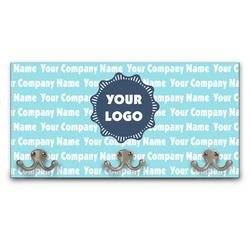 Logo & Company Name Wall Mounted Coat Rack (Personalized)