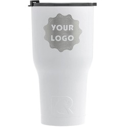 Logo & Company Name RTIC Tumbler - White - Engraved Front (Personalized)