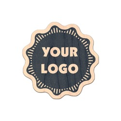 Logo & Company Name Genuine Maple or Cherry Wood Sticker (Personalized)