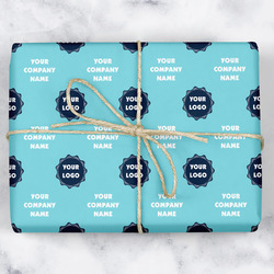 Logo & Company Name Wrapping Paper