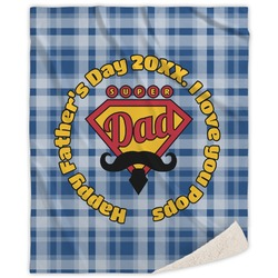 Hipster Dad Sherpa Throw Blanket (Personalized)