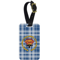 Hipster Dad Aluminum Luggage Tag (Personalized)