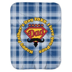Hipster Dad Baby Swaddling Blanket (Personalized)