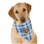 Hipster Dad Dog Bandana Scarf w/ Name or Text