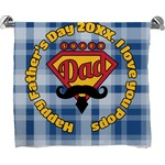 Hipster Dad Bath Towel (Personalized)