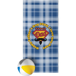 Hipster Dad Beach Towel (Personalized)