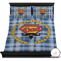 Hipster Dad Duvet Cover Set (Personalized)