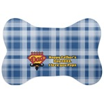 Hipster Dad Bone Shaped Dog Food Mat (Personalized)