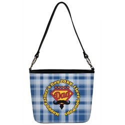 Hipster Dad Bucket Bag w/ Genuine Leather Trim (Personalized)
