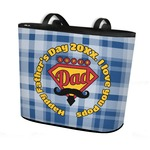 Hipster Dad Bucket Tote w/ Genuine Leather Trim (Personalized)