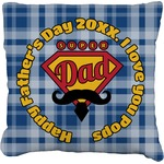 Hipster Dad Faux-Linen Throw Pillow (Personalized)