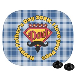 Hipster Dad Car Side Window Sun Shade (Personalized)