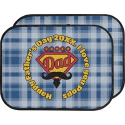 Hipster Dad Car Floor Mats (Back Seat) (Personalized)