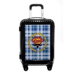 Hipster Dad Carry On Hard Shell Suitcase (Personalized)