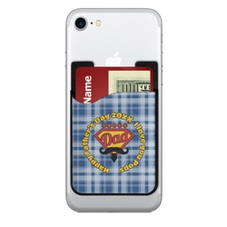 Hipster Dad 2-in-1 Cell Phone Credit Card Holder & Screen Cleaner (Personalized)