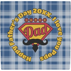 Hipster Dad Ceramic Tile Hot Pad (Personalized)