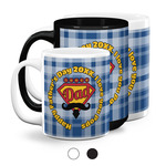 Hipster Dad Coffee Mugs (Personalized)