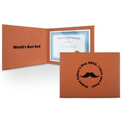 Hipster Dad Leatherette Certificate Holder (Personalized)