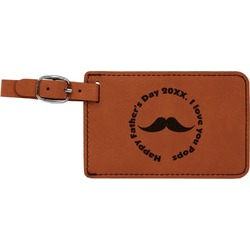 Hipster Dad Leatherette Luggage Tag (Personalized)
