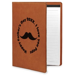 Hipster Dad Leatherette Portfolio with Notepad (Personalized)