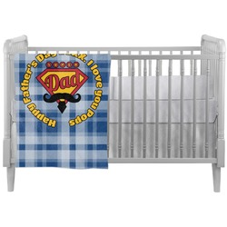 Hipster Dad Crib Comforter / Quilt (Personalized)