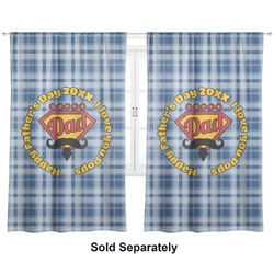 """Hipster Dad Curtains - 40""""x54"""" Panels - Unlined (2 Panels Per Set) (Personalized)"""