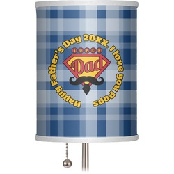 """Hipster Dad 7"""" Drum Lamp Shade (Personalized)"""