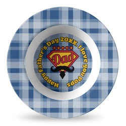 Hipster Dad Plastic Bowl - Microwave Safe - Composite Polymer (Personalized)